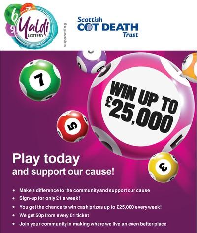 We've joined Yaldi's Glasgow Community Lottery